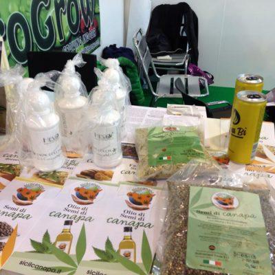 I prodotti Sicilcanapa nello stand di OnAir